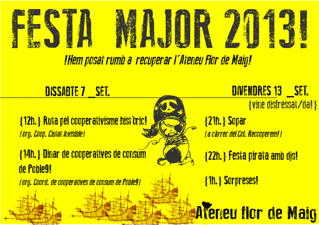Activitats pirates per la Festa Major!