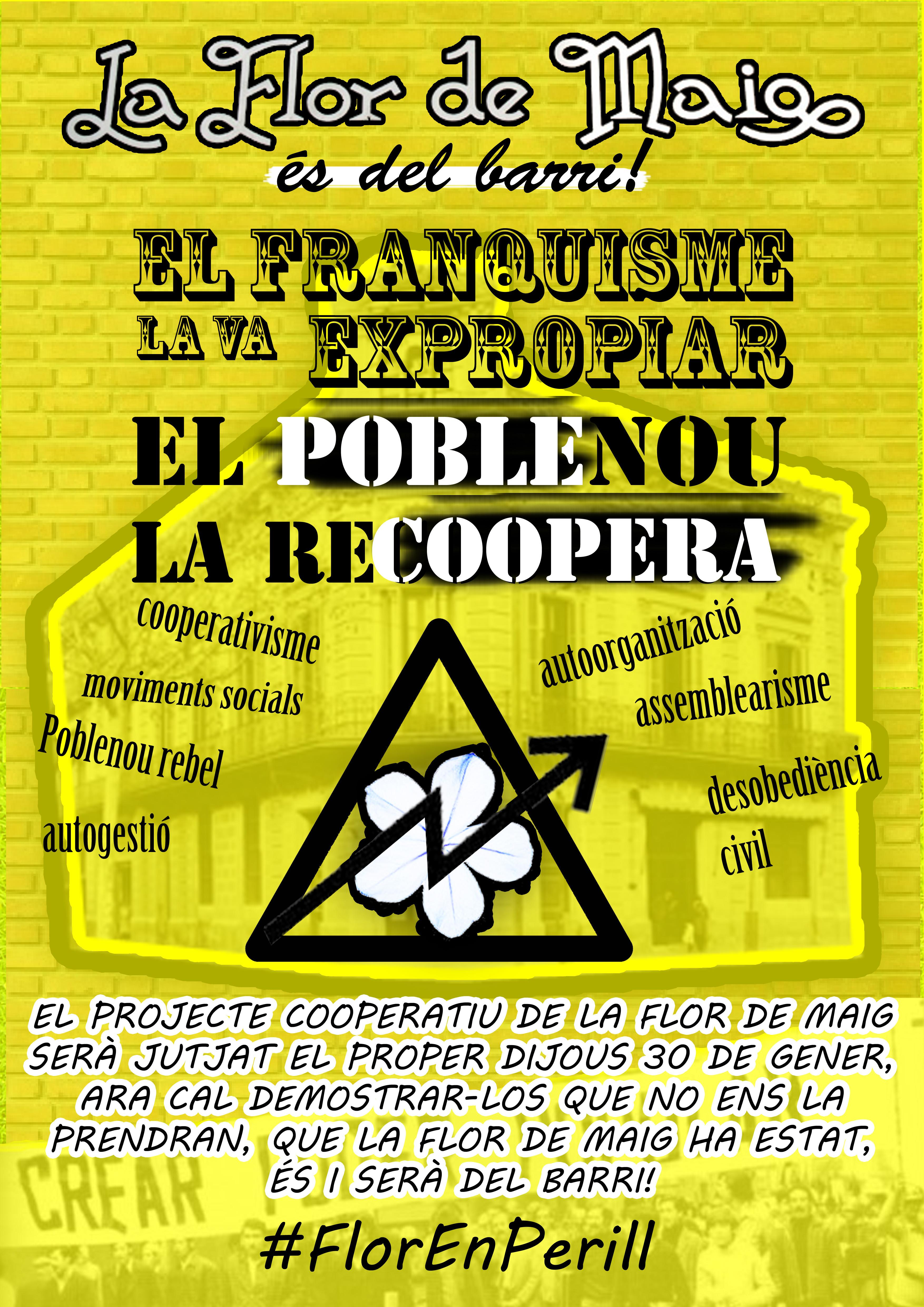 Davant del judici del dia 30 de gener #FlorEnPerill [Segona fase de la campanya]
