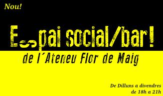 La Flor de Maig cerca idees per gestionar l'Espai Social (Bar)