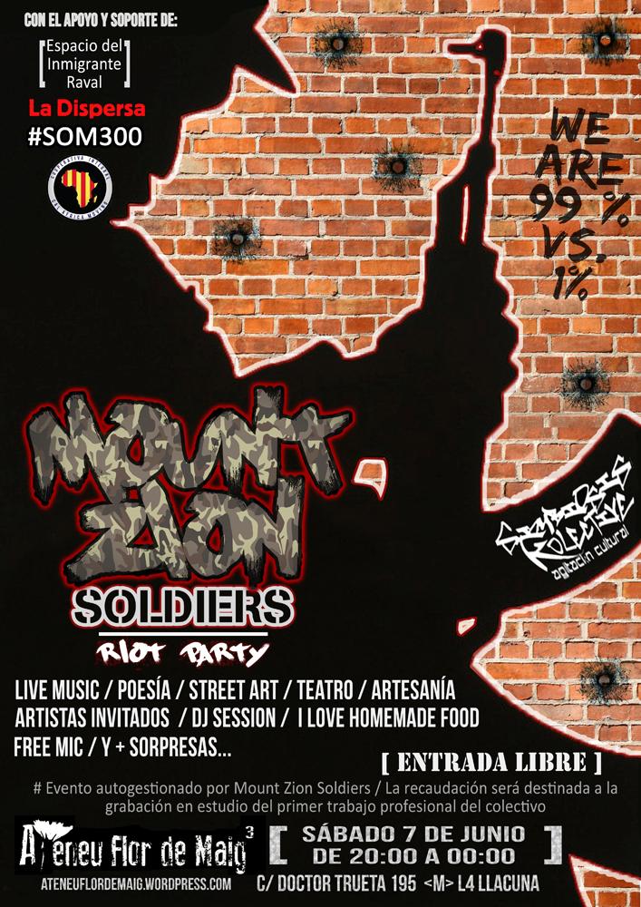 Jornada de suport a Mount Zion Soldiers [ 7-Jun 20h]