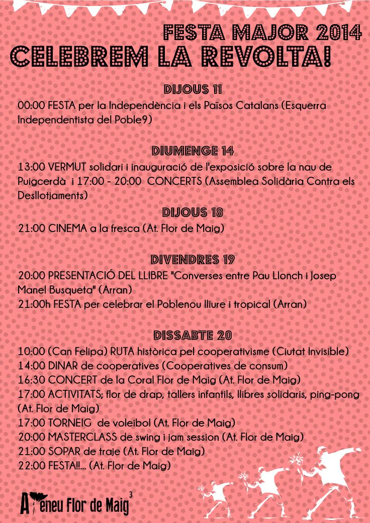 Festa Major del Poblenou 2014 CELEBREM LA REVOLTA!