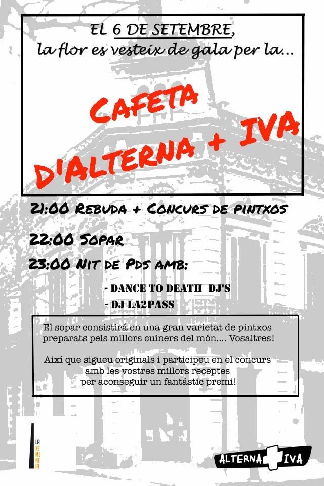 Cafeta d'Alterna+IVA [6 de setembre]