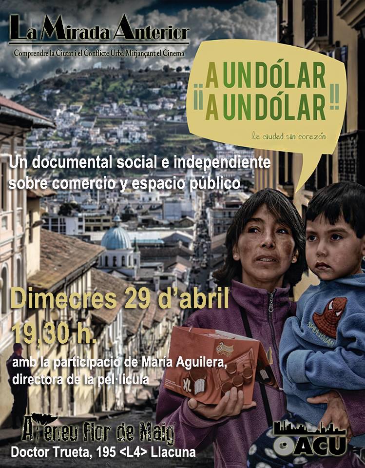 Dimecres 29 d'abril a les 19,30h Documental social i independent