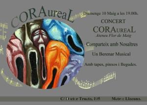 CARTELL FESTA FLOR 10 MAIG coral aureal
