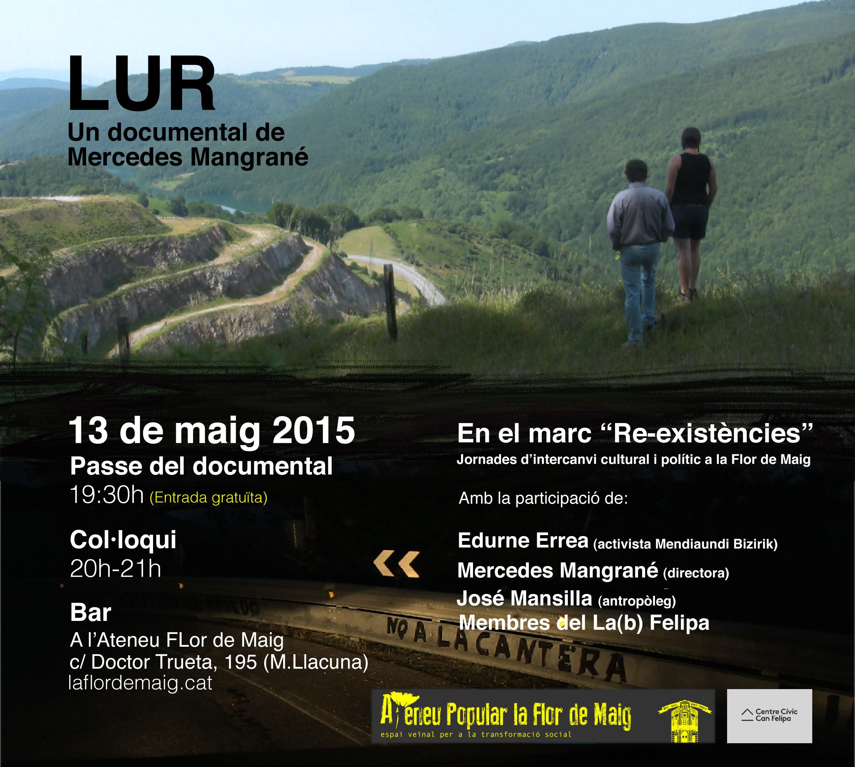 """Dimecres 13 de maig documental a la Flor """"LUR"""""""