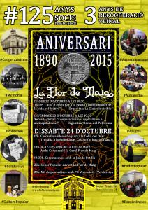 cartell festa aniversari flor