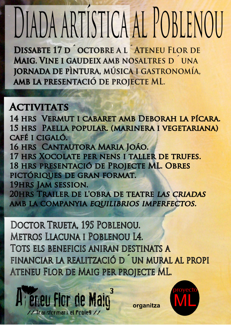 Dissabte 17 d'octubre Diada d'art a la Flor