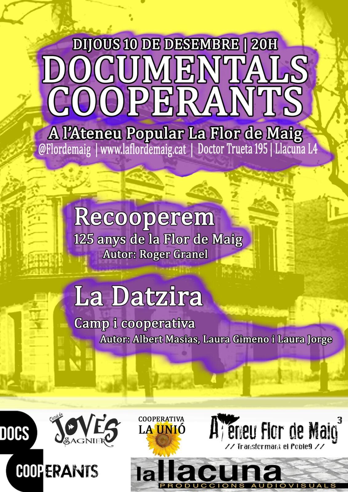 Dijous 10 de desembre estrenem documentals a la Flor